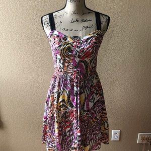Allen B. Multicolor dress.
